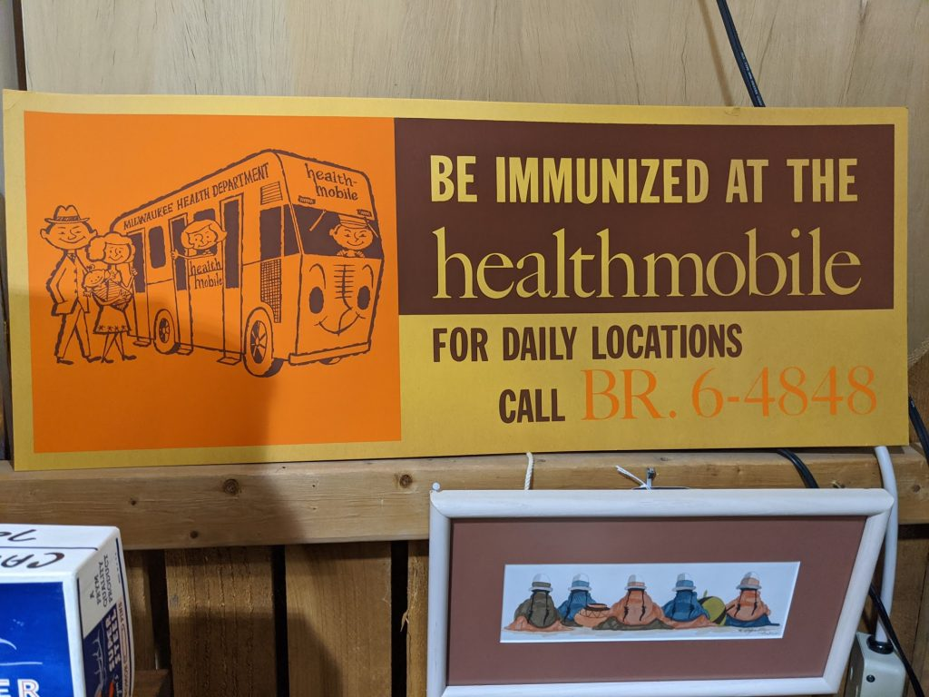 Be immunized at the healthmobile.